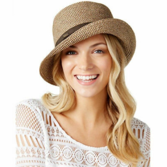 1e7db43aba0183 Nine West Accessories | Womens Packable Microbrim Hat Brown Os ...